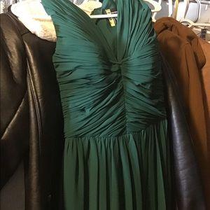 New Vera wang long emerald dress